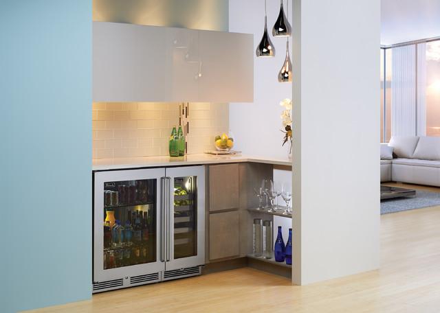 Beverage Station Off Living Room Modern Living Room