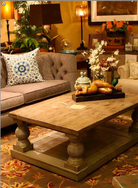 Beverly Coffee Table in Reclaimed Wood - mediterranean - coffee