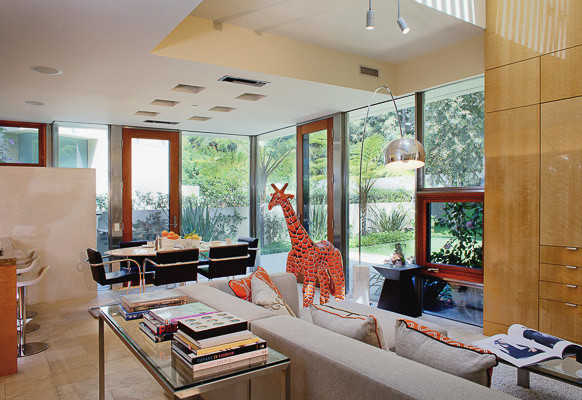 Beverly Hills Modern Living Room Other Metro By