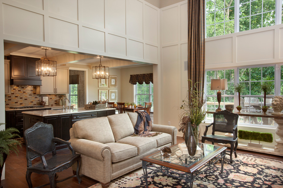 Inspiration for a contemporary living room remodel in Columbus