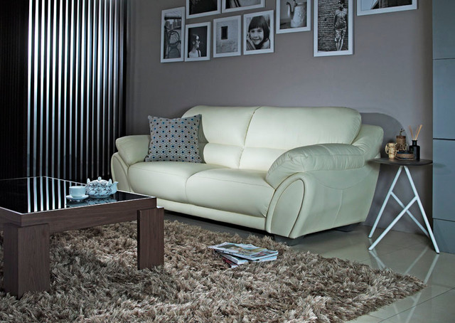 Cellini Sofa leather sofa contemporary living room singapore by