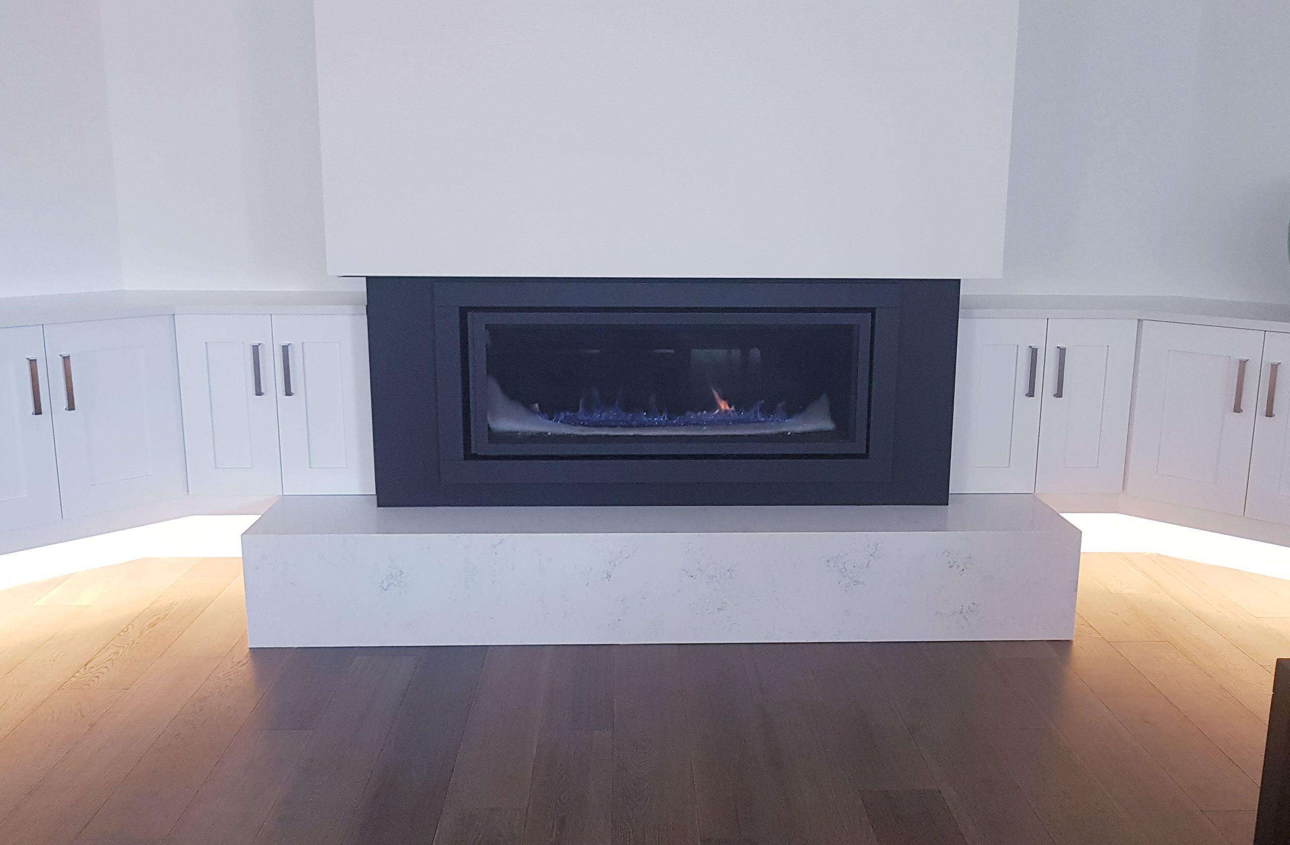 Bianco Gioia Quartz Fireplace