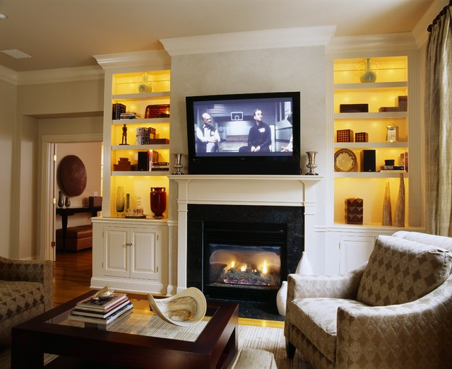 Big Screen traditional living room