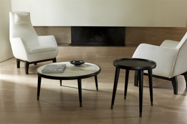 Bign Round Coffee Table Contemporary Living Room