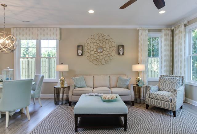 Amazing Bimini Townes Beach Style Living Room