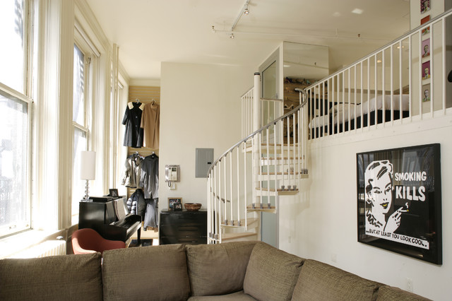 Bird Cage Loft Contemporary Living Room New York By Paul Welschmeyer Architects Energy Consultants