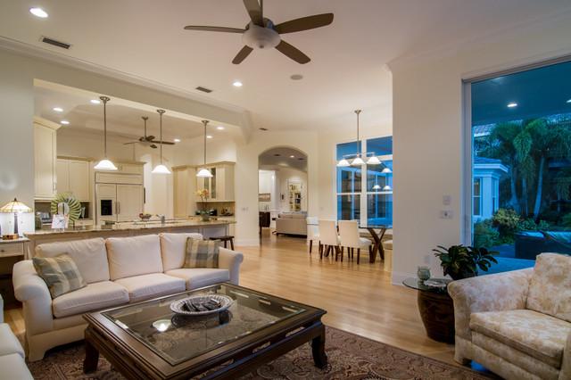 Bird Key Residence tropical-living-room