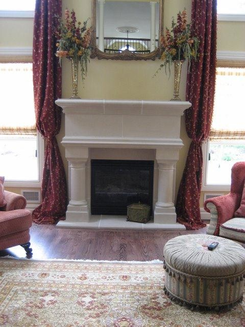 Birmingham Fireplace Mantel traditional-living-room