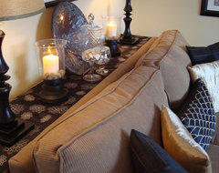 Black & Beige Living Room eclectic-living-room