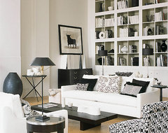 Black & White living  room contemporary-living-room