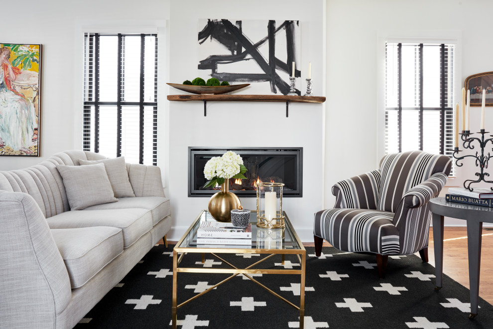 Black And White Living Room Transitional Living Room Other By Joni Spear Interior Design