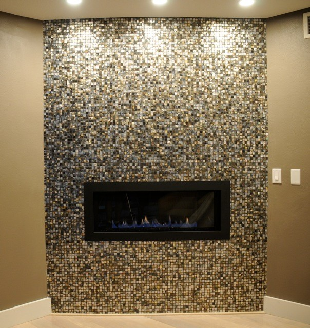 Black Lip Mother of Pearl Fireplace Project by Christina Rexford. Orlando
