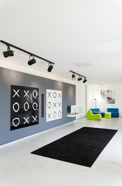 Black or White... modern-living-room
