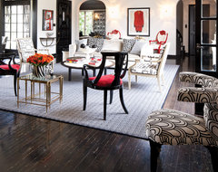 Black, White and Red Living Room eclectic-living-room