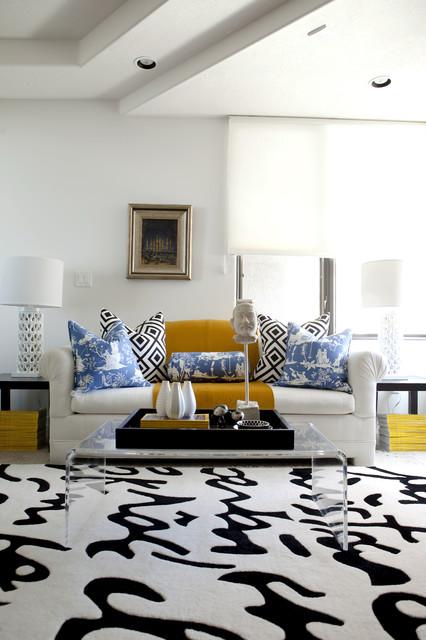 Black + White Office modern-living-room