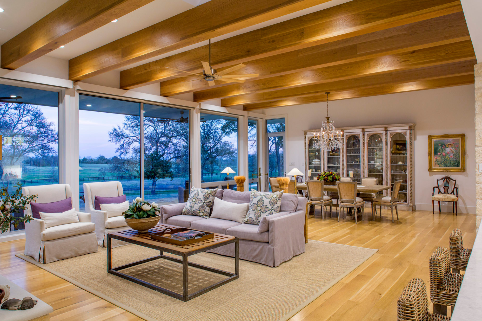 75 Beautiful Farmhouse Open Concept Living Room Pictures Ideas July 2021 Houzz