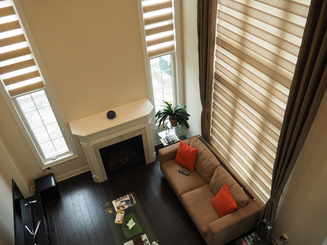 Blinds and Drapes Side panel combinations - Contemporary - toronto - by Trendy Blinds Inc.