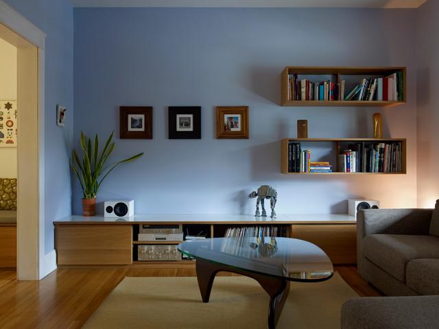 Bloordale Renovation modern-living-room