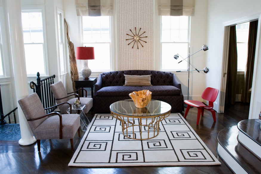 Inspiration for a contemporary living room remodel in Atlanta