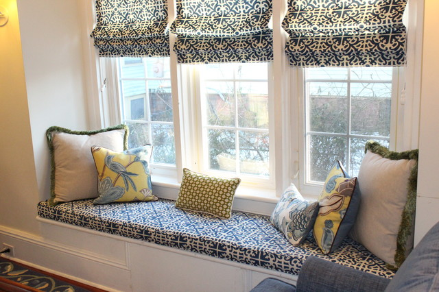 Blue And Yellow Sunroom