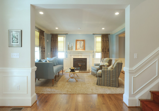 Blue Living Room Traditional Living Room DC Metro by bossy