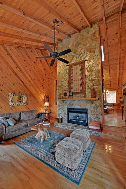 Blue Ridge Georgia Custom Homes Rustic Living Room