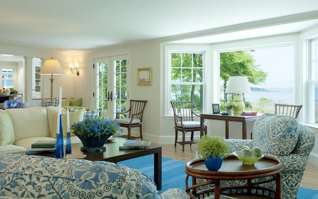 Blue Summer beach-style-living-room