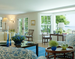 Blue Summer traditional living room