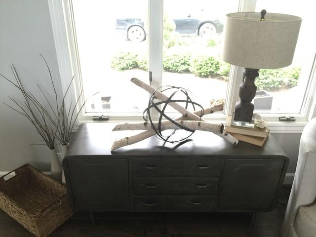 Blue White Reclaimed Living Rustic Living Room