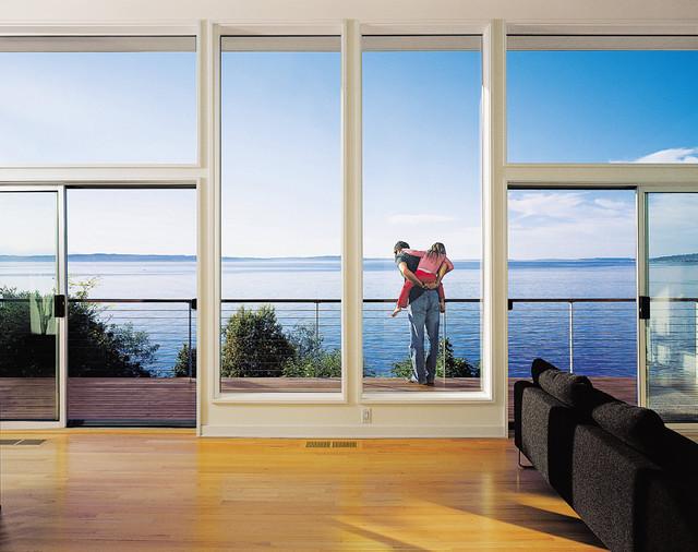 Blueridge residence beach-style-living-room