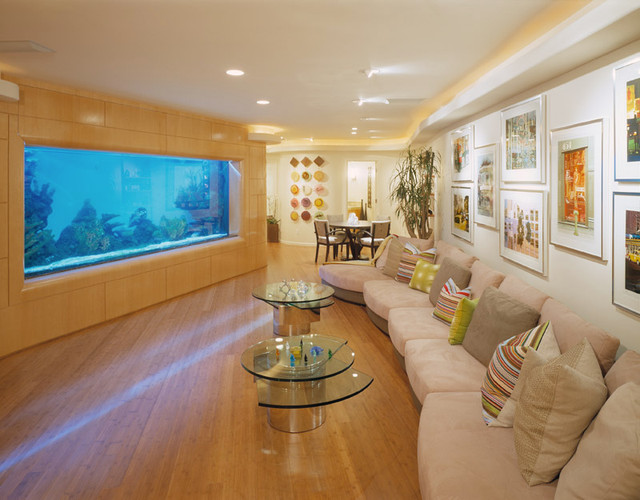Bon Blumenthal Aquarium Contemporary Living Room
