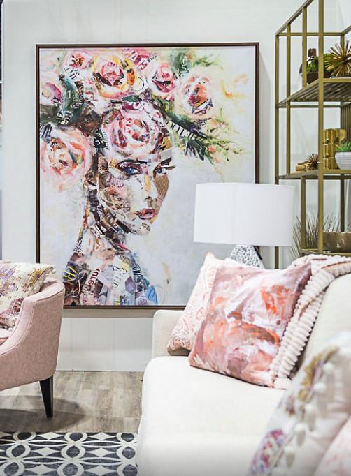 Blush Toned Living Room