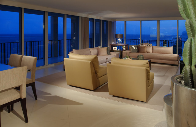 BOCA RATON FLORIDA OCEAN DREAM Contemporary Living Room Miami By CRC