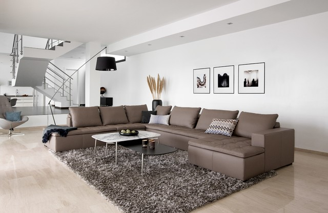 BoConcept Mezzo Corner Sofa With Lounging And Resting Unit Contemporary Living Room