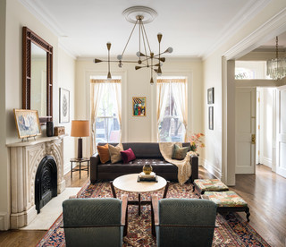 Boerum hill brownstone transitional living room new for Adams salon brooklyn ny
