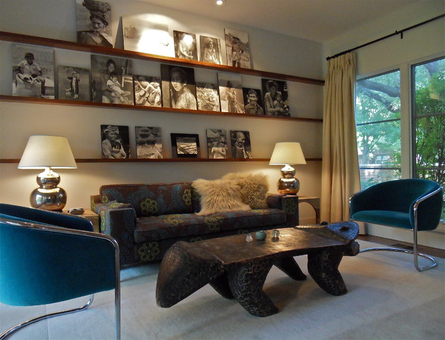 Bohemian Eclectic Midcentury Living Room Dallas By Carrie Roby Interiors Llc
