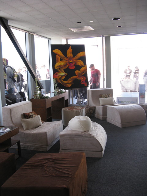 Bohmod lounge for Project Green Eco Oscars Gifting suite 2012 contemporary-living-room