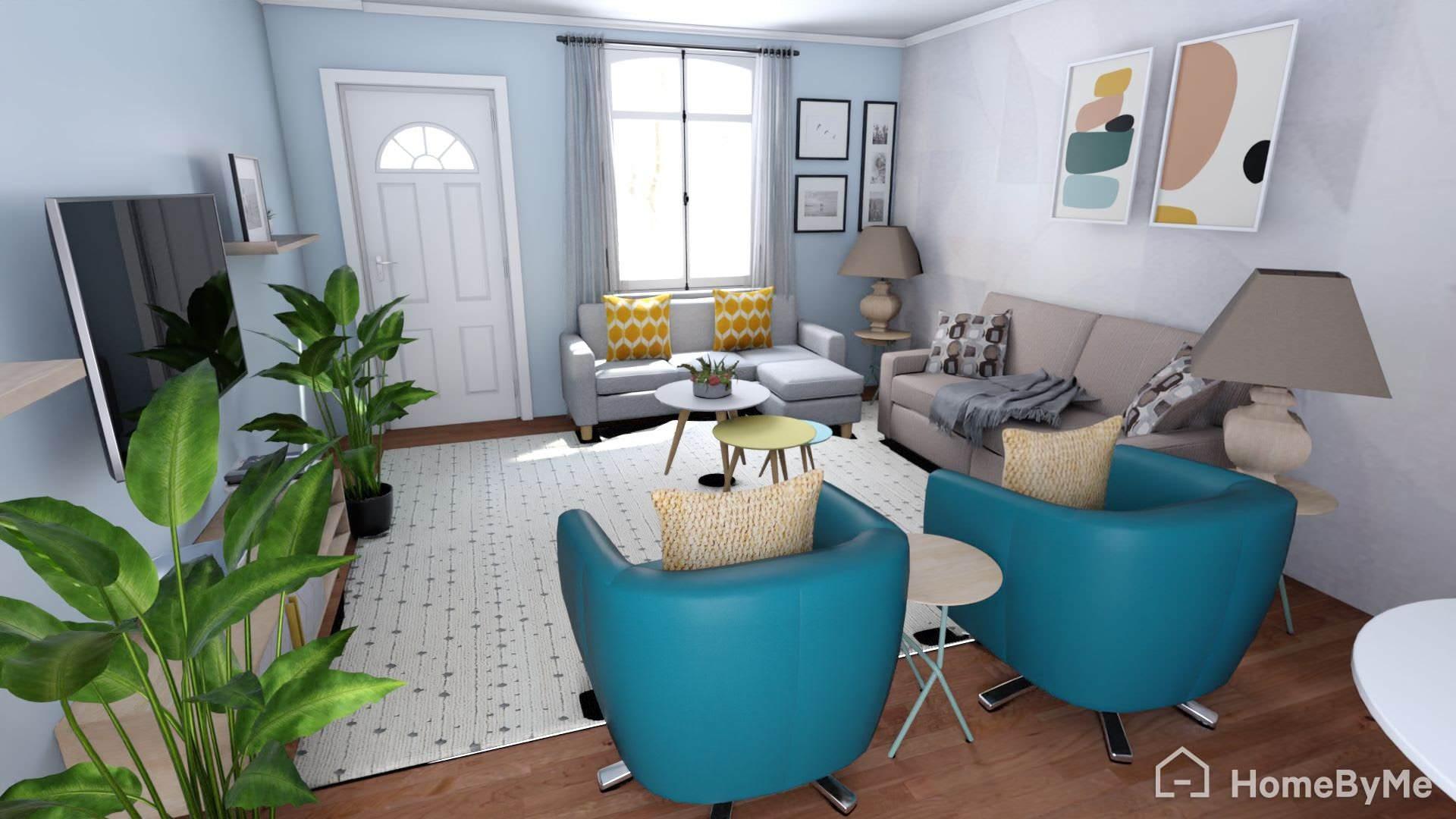 Boho/Mid-Century Living Room