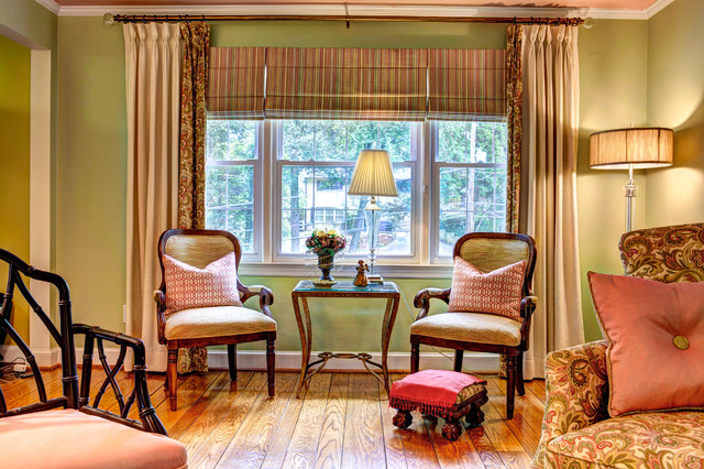 Bold And Beautiful Traditional Living Room Baltimore By Draped