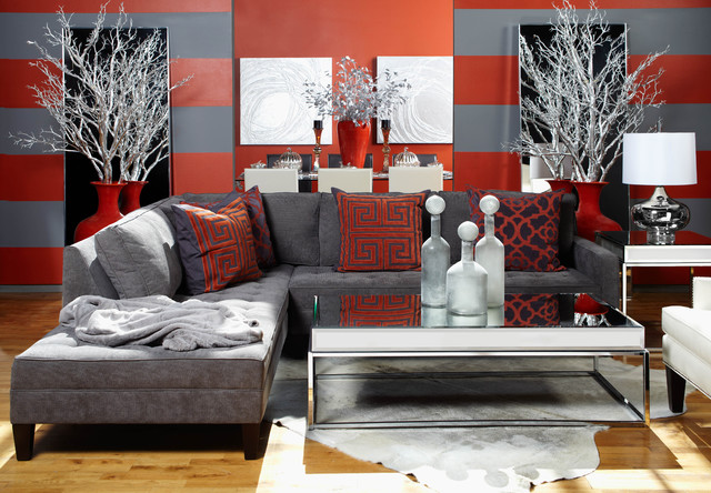 Bold and Contemporary - eclectic - living room - other metro - by