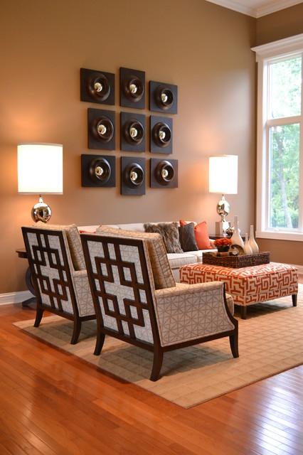 Bold Living Room transitional-living-room
