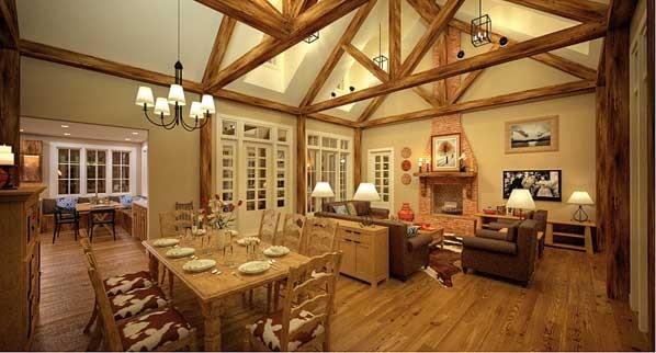 Bon Aqua, Tennessee Porch House traditional-living-room
