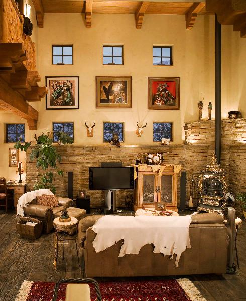 Bonidy Residence - Southwestern - Living Room - denver - by TAB ASSOCIATES INC