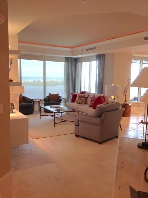 Bonita bay high rise luxury residential interior design for Luxury residential interior designer