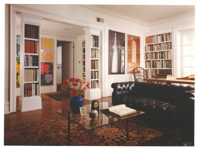 Book columns traditional living room chicago by for Living room columns