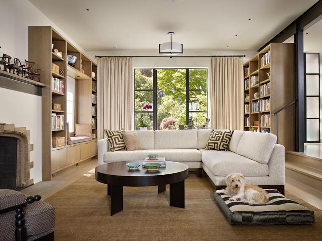 Book House contemporaneo-soggiorno