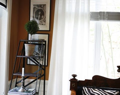 Book shelf ladder - a touch of industrial eclectic living room