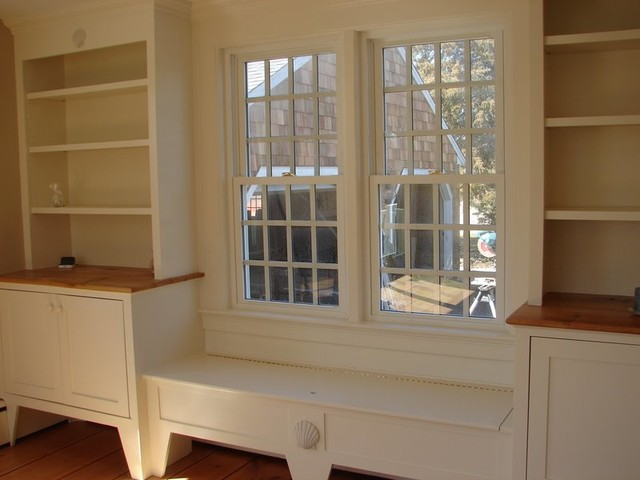 Bookcases And Bench Seat Traditional Living Room Boston By Bass River