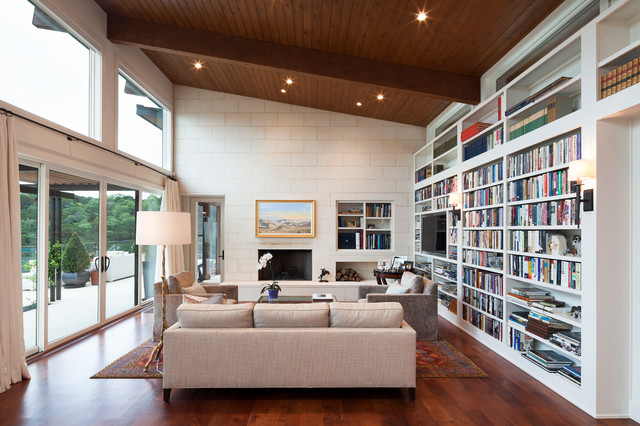 Bookhouse Residence contemporary-living-room