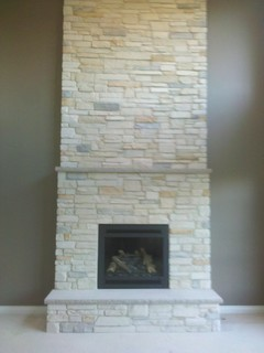 Boral Cultured Stone Country Ledgestone Living Room